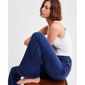 "Zara Mid-Rise Skinny Flare Jeans 34"" inseam NWT"